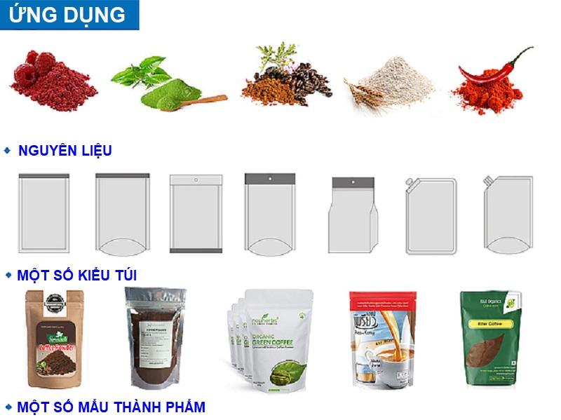 Một số mẫu thành phẩm máy đóng gói túi zipper dạng trạm xoay do Vĩnh Phát nhập khẩu