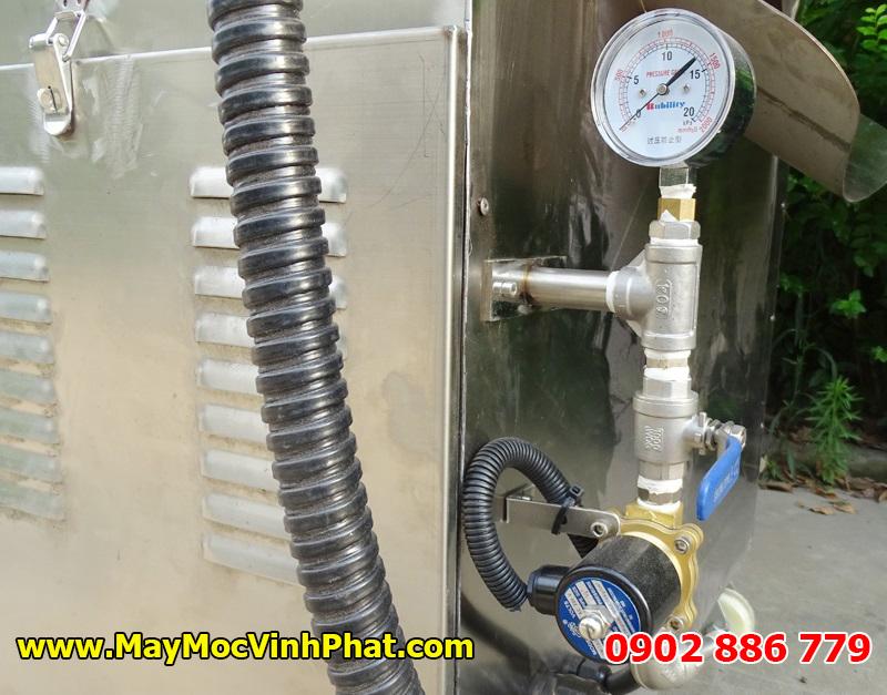 Bộ điều chỉnh lưu lượng khí ga của máy rang hạt bằng gas Vĩnh Phát