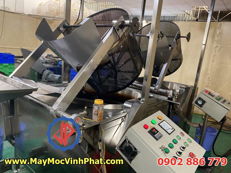 Máy chiên đậu phộng bọc socola, đậu phộng da cá Vĩnh Phát chế tạo và cung cấp