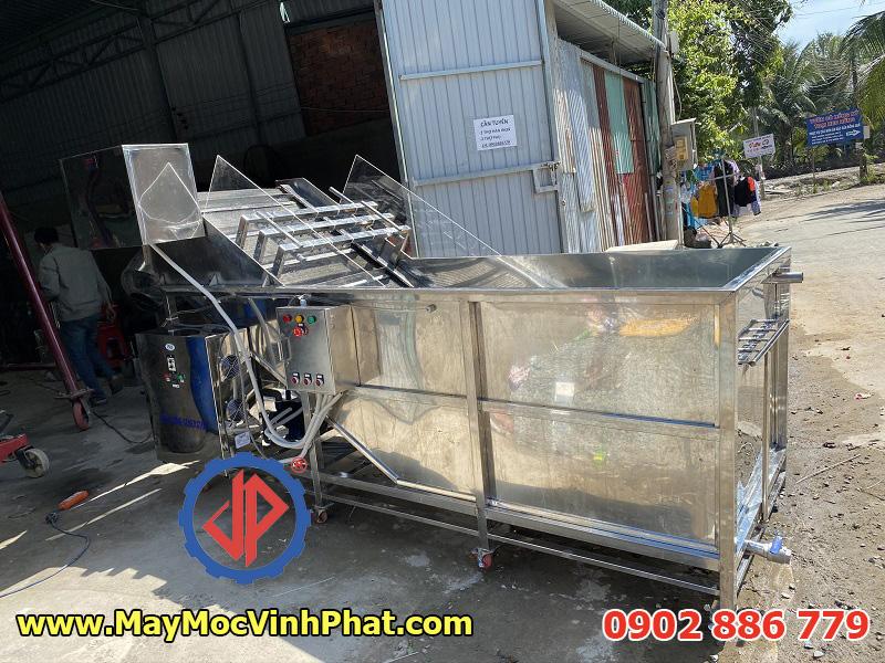 Dây chuyền máy rửa thanh long sục khí ozone chuyên dụng Vĩnh Phát