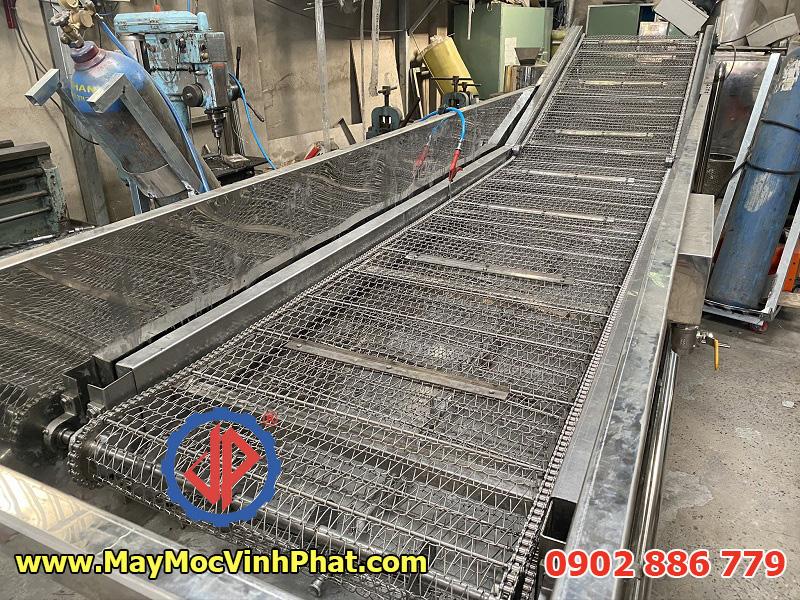 Dây chuyền rửa thanh long sục khí sản xuất 100% tại Việt Nam