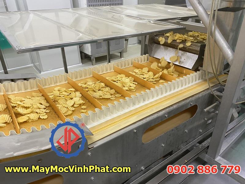 Chế tạo và cung cấp dây chuyền sản xuất snack khoai tây chiên công nghiệp