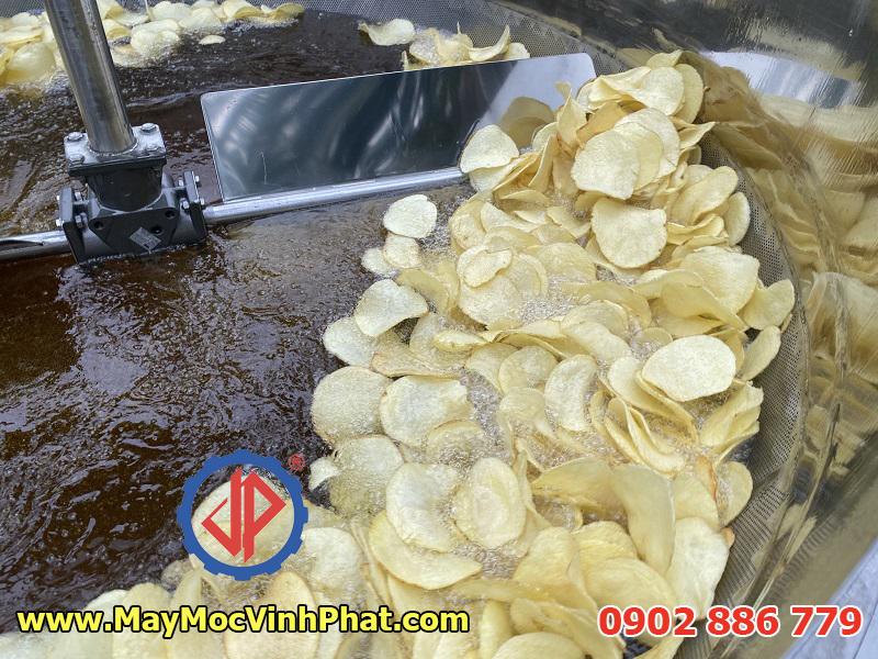 Hiệu quả thực tế của máy chiên khoai tây Vĩnh Phát