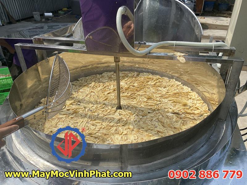 Máy chiên khoai tây, chuối, khoai lang Vĩnh Phát