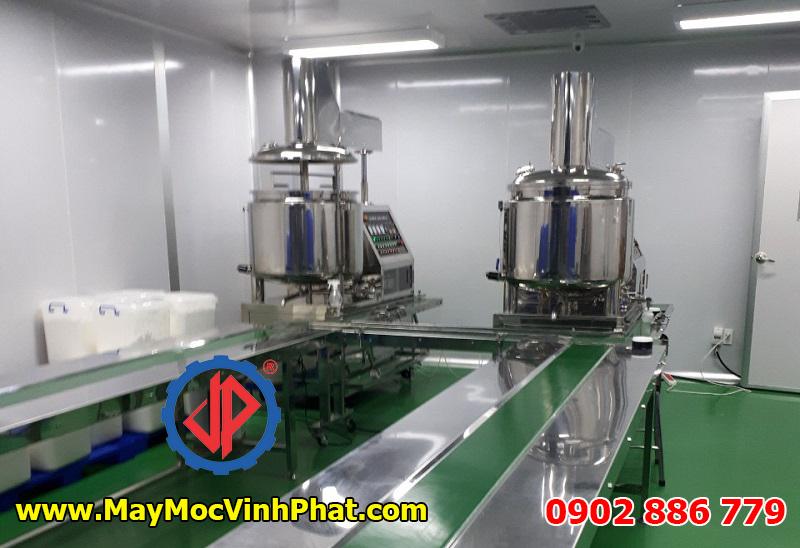 Hệ thống máy nhũ hóa mỹ phẩm Vĩnh Phát chất lượng cao, giá rẻ nhất