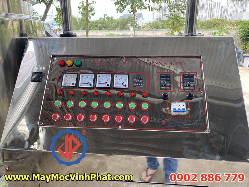 Tủ điện máy trộn nhũ hóa hút chân không chuyên nghiệp bằng tiếng Việt