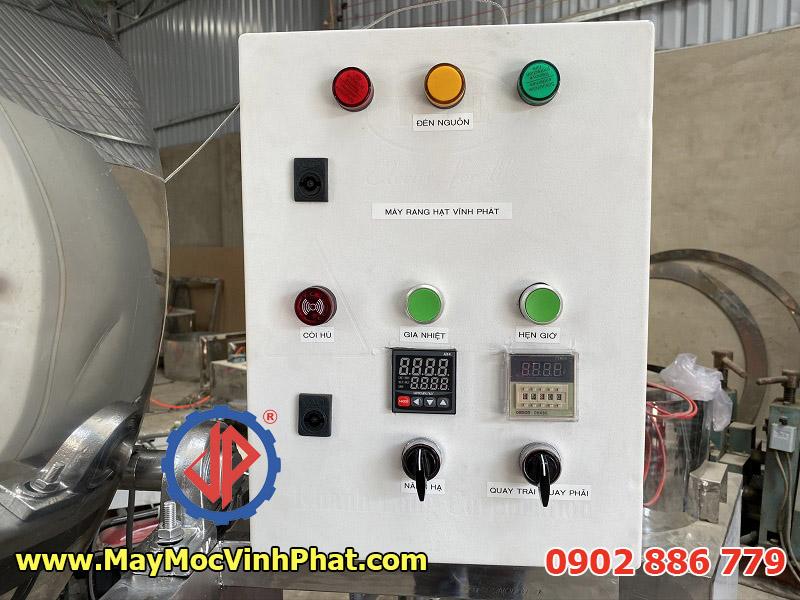 Tủ điều khiển máy rang hạt công nghiệp Vĩnh Phát trực quan, dễ vận hành