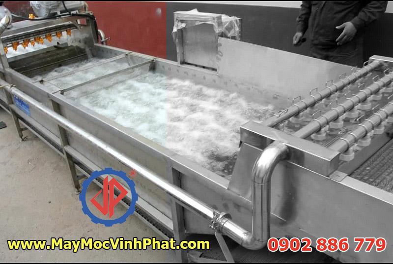 Máy rửa cá kiểu sục khí khuấy động ghép nối tiếp