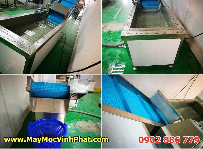 Dây chuyền rửa rau công nghiệp dục khí ozone, máy rửa của quả nông sản công suất lớn