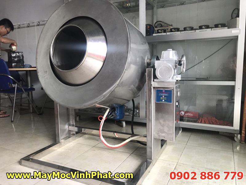 Hình ảnh máy sấy chà bông bằng điện, máy rang sấy ruốc dạng ru lô công nghiệp
