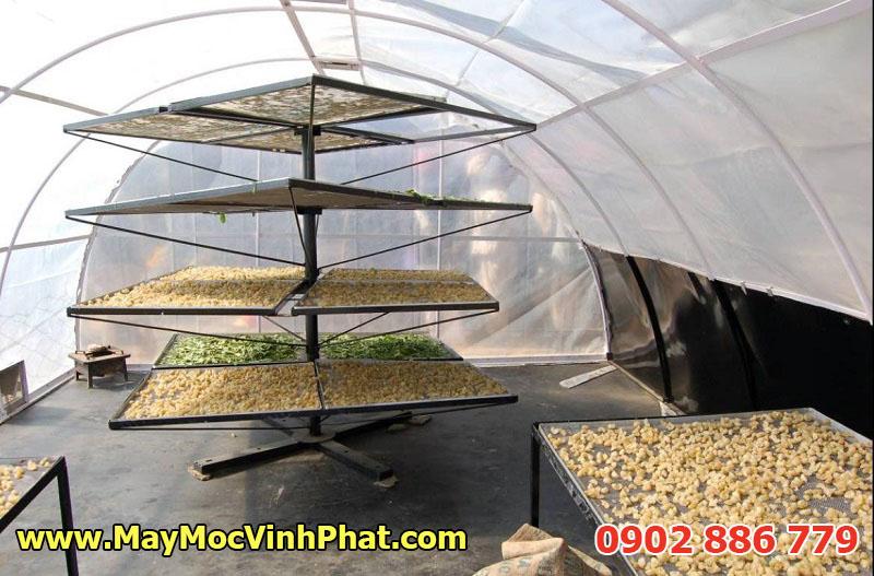 Một mô hình máy sấy nông sản bằng năng lượng mặt trời theo nguyên lý hiệu ứng nhà kính