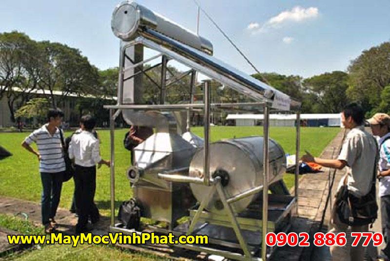 Máy sấy nông sản bằng năng lượng mặt trời dạng lồng quay nằm ngang