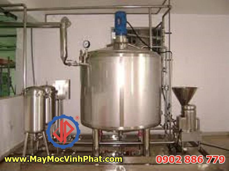 Nồi nấu công nghiệp bằng hơi 2000 lít cho nhà máy tương ớt