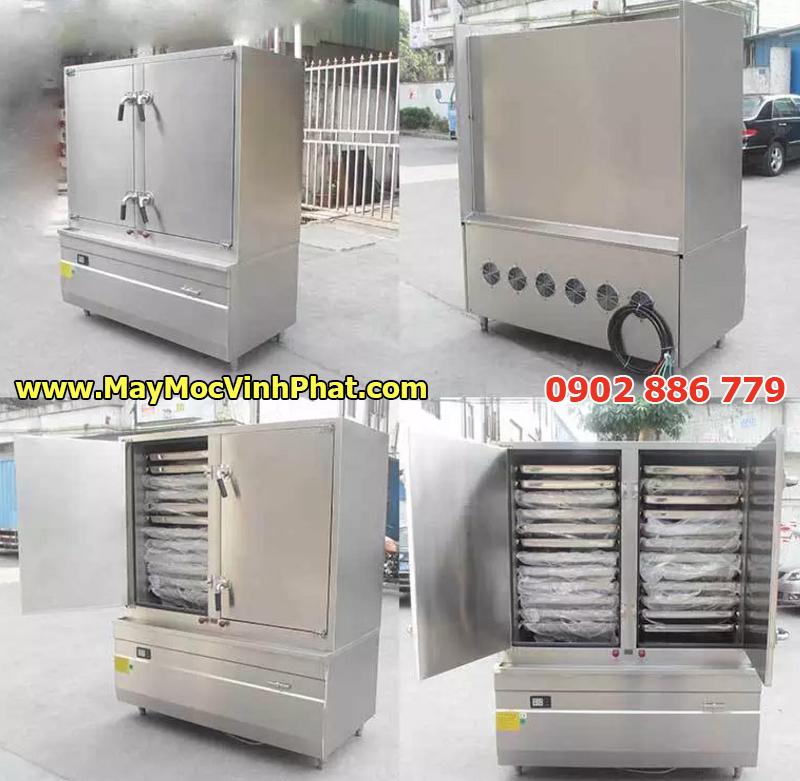 Tủ hấp công nghiệp bằng điện để hấp cơm, thịt gà, cá, rau củ...