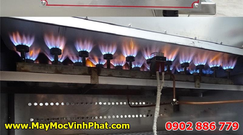 Máy rang hạt bằng gas Vĩnh Phát đảm bảo đều nhiệt và liên tục