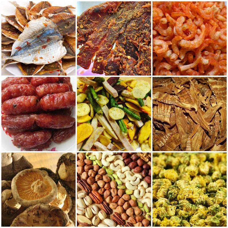 Sản phẩm hoa quả, trái cây khi sử dụng máy sấy nông sản, tủ sấy công nghiệp Vĩnh Phát
