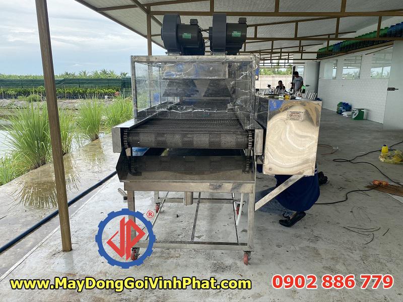 Module băng tải thổi khô của máy rửa trái nhàu công suất lớn
