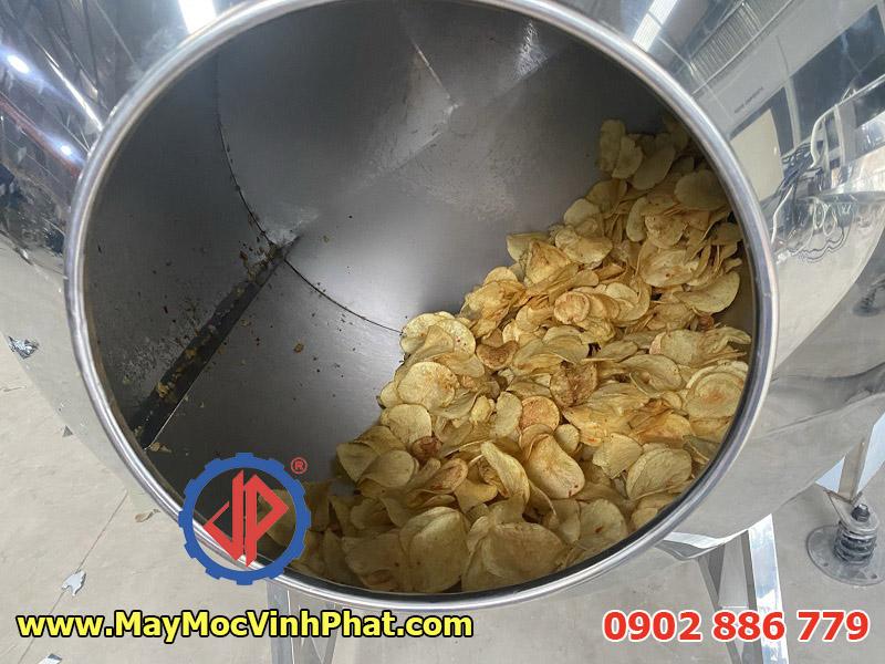 Máy trộn tẩm gia vị khoai tây chiên, hạt điều, đậu phộng tỏi ớt...