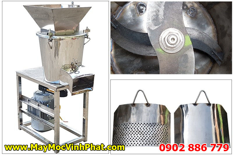 Máy nghiền công nghiệp Vĩnh Phát, xay nhuyễn nguyên liệu theo yêu cầu